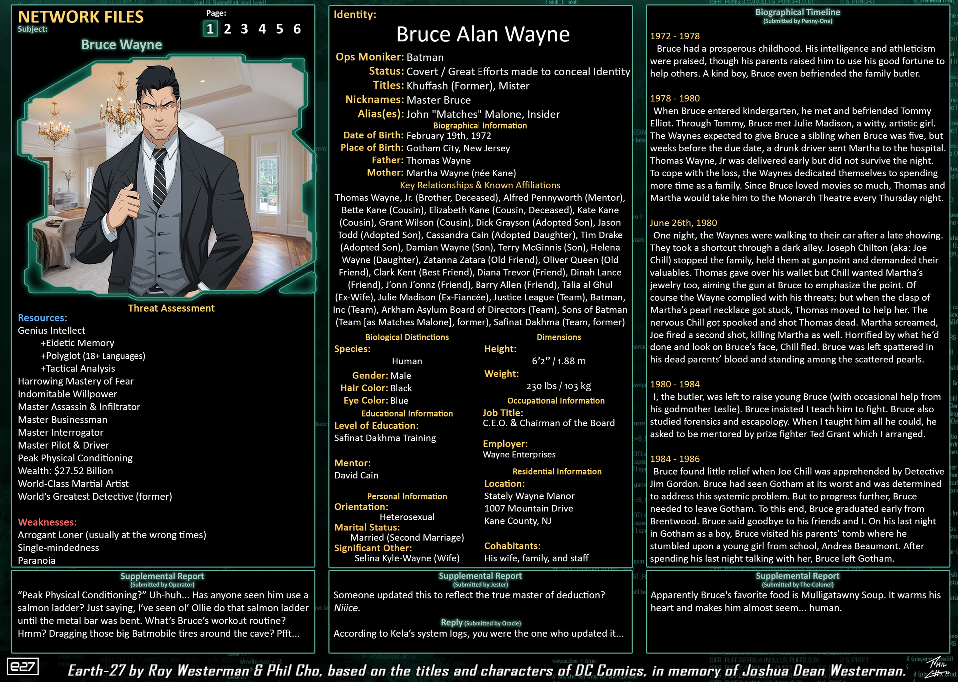 Network Files - Bruce Wayne 1