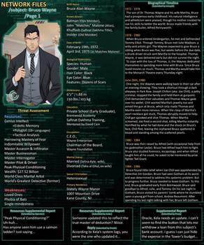 Network Files - Bruce Wayne 1 by Roysovitch