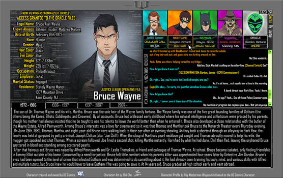(Earth-27: Oracle Files) Bruce Wayne [Part 1 of 4] by Roysovitch