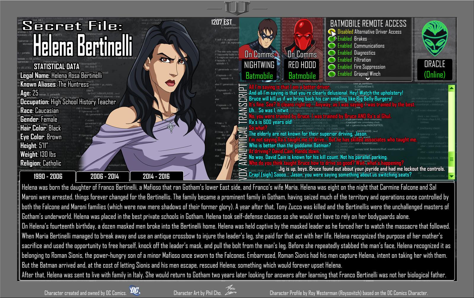 Oracle Files - Helena Bertinelli 1990-2006