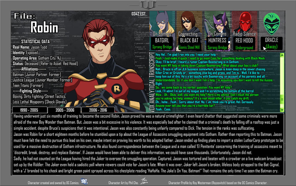 Oracle Files - Jason Todd 2005-2006