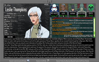 Oracle Files - Leslie Thompkins 1950-2016 by Roysovitch