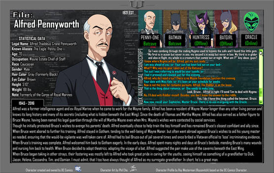 Oracle Files - Alfred Pennyworth 1945-2016 by Roysovitch