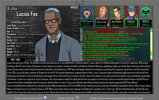 Oracle Files - Lucius Fox 1957-2016 by Roysovitch