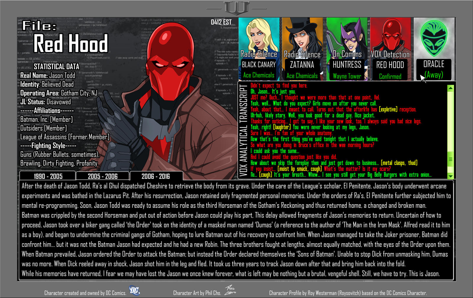 Oracle Files - Jason Todd 2006-2016 [UPDATED]