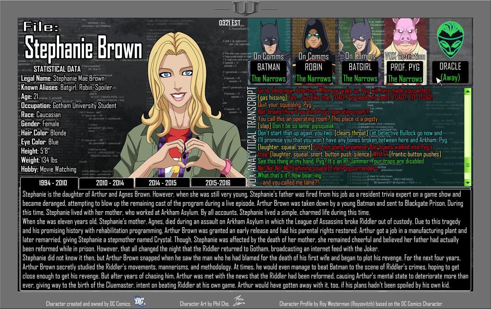 Oracle Files - Stephanie Brown 1994-2010