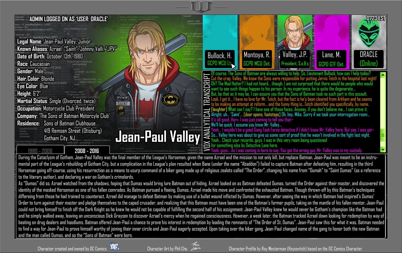 Oracle Files - Jean-Paul Valley 2008-2016