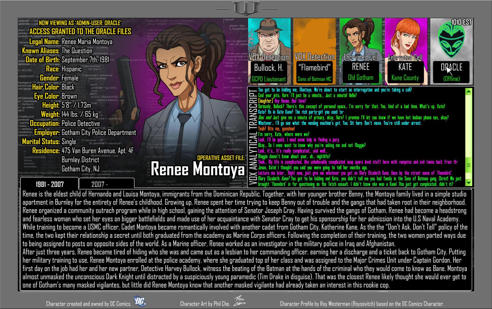 Oracle Files - Renee Montoya