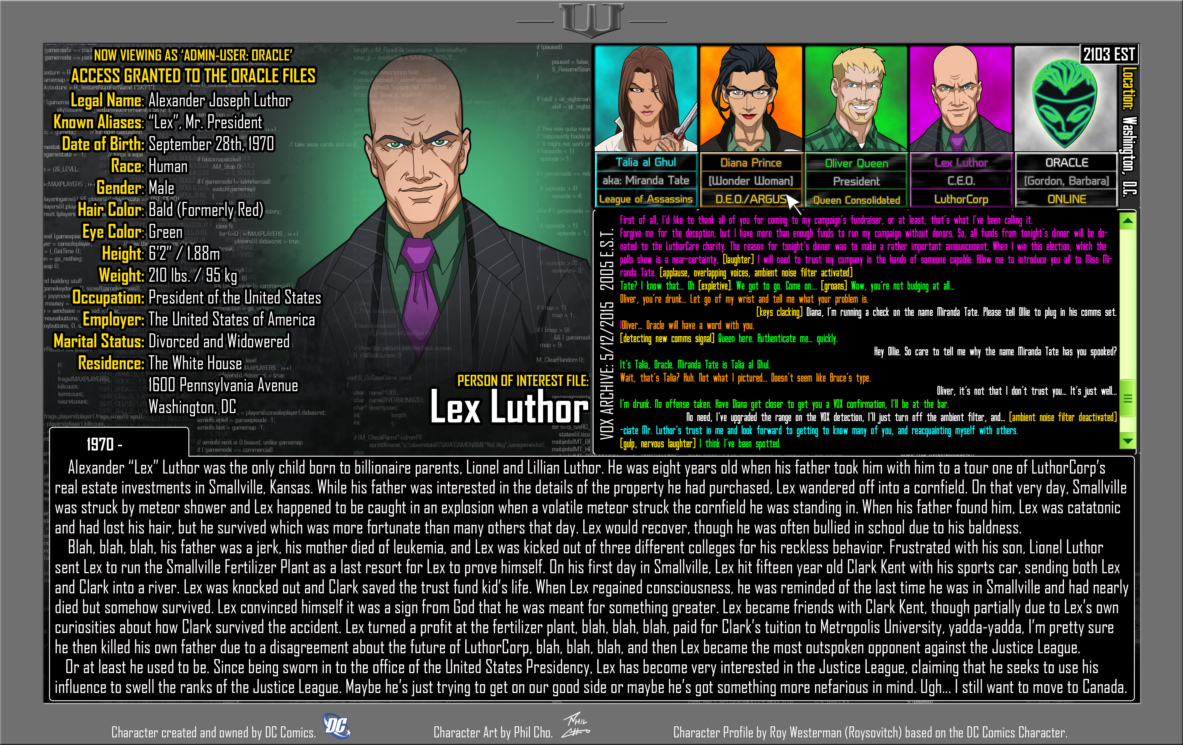 Oracle Files - Lex Luthor