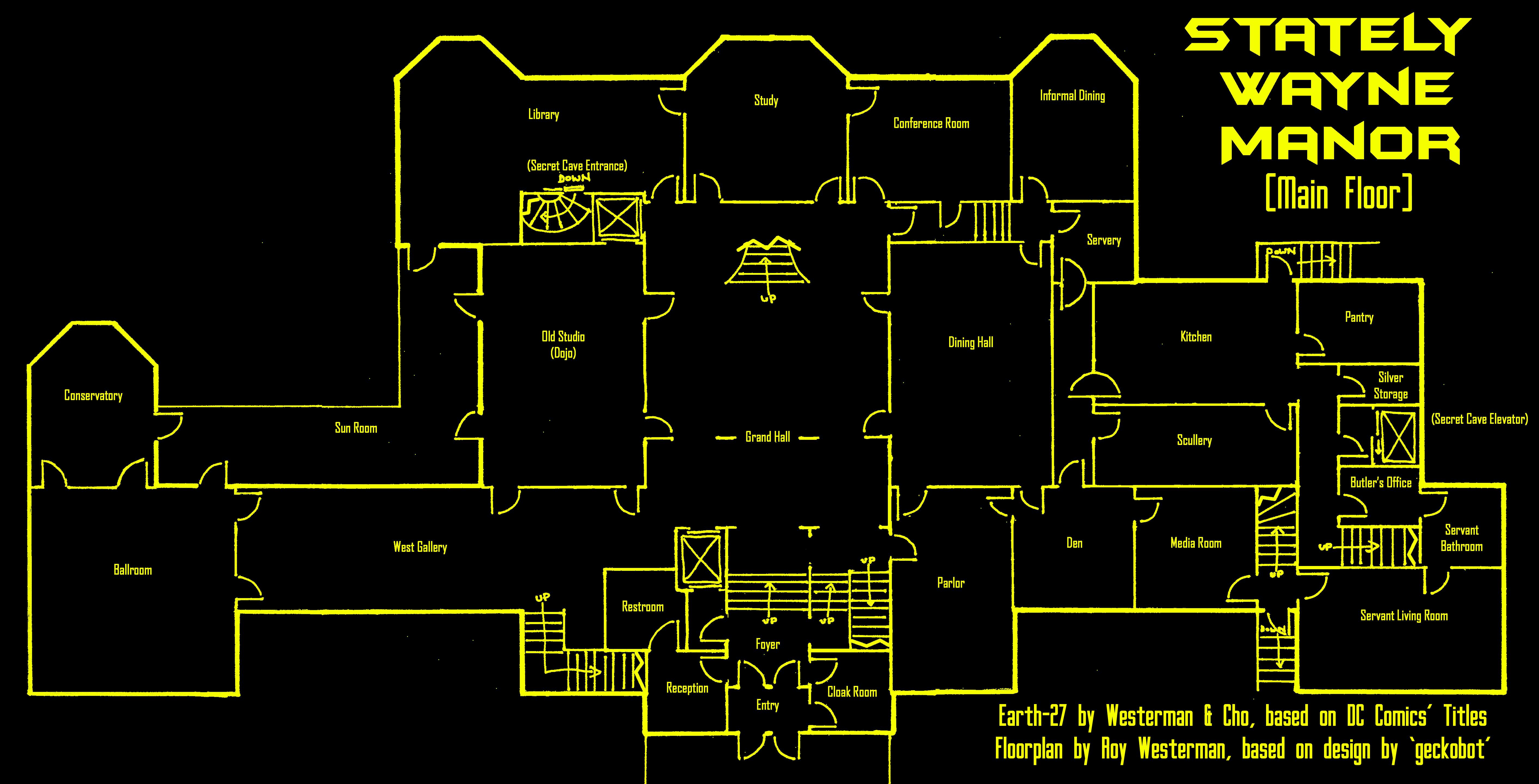 Earth-27's Wayne Manor - Upper by Roysovitch on DeviantArt