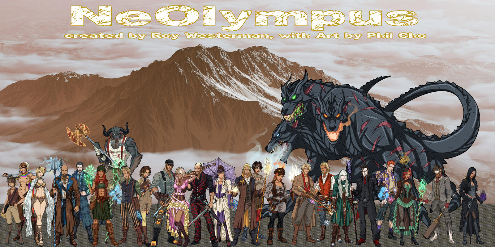 (NeOlympus) The Cast (... so far) by Roysovitch