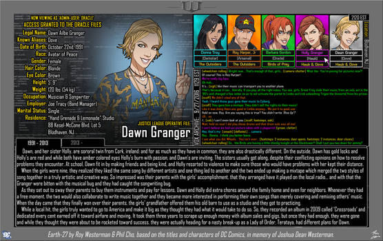 [Earth-27: Oracle Files] Dawn Granger (1/2)