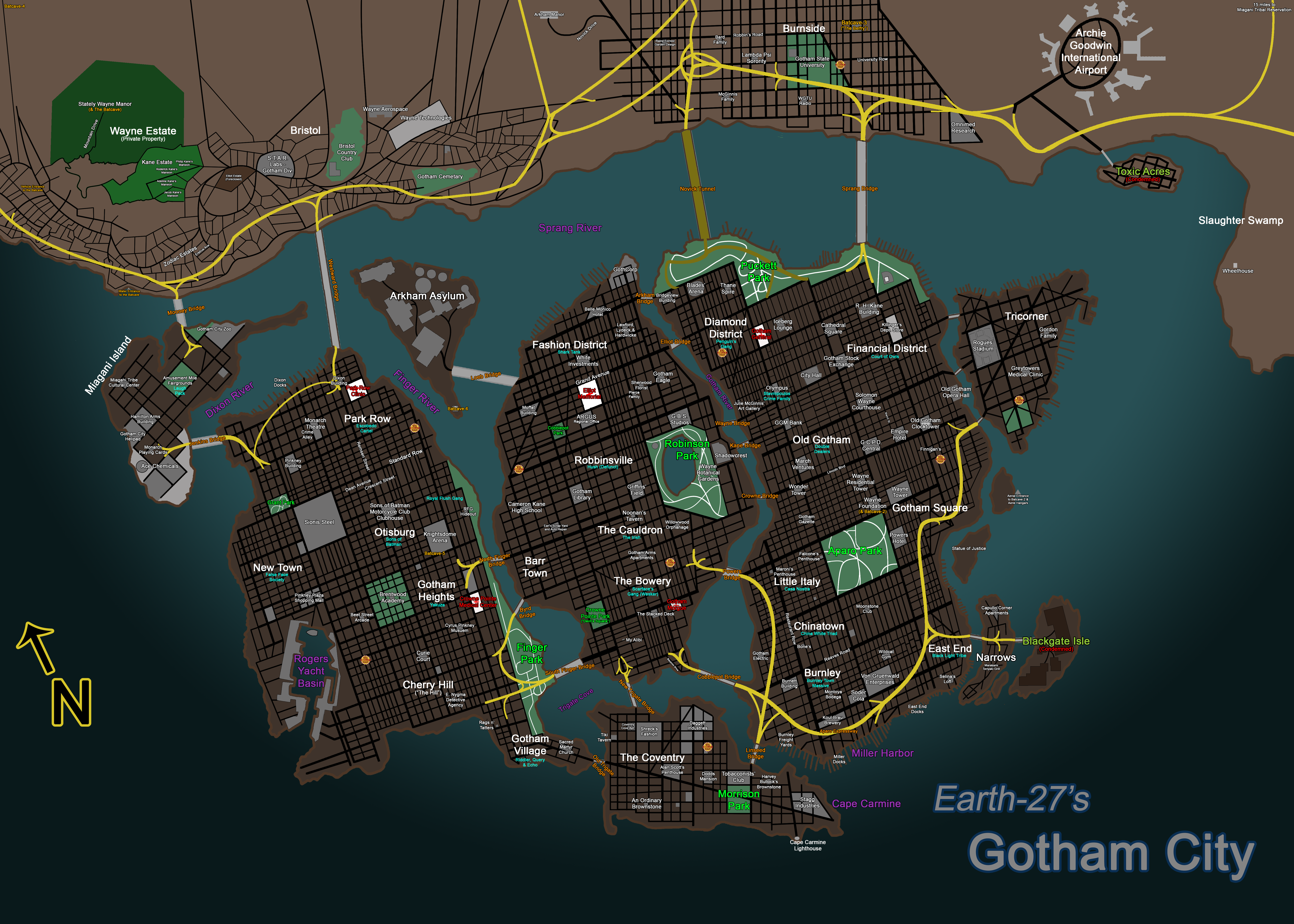 Earth 27 For Nitwits Gotham City By Roysovitch On Deviantart