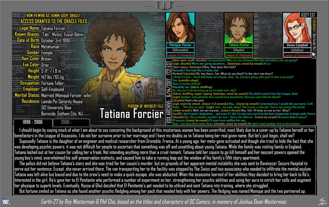 [Earth-27: Oracle Files] Tatiana Forcier (1/2) by Roysovitch
