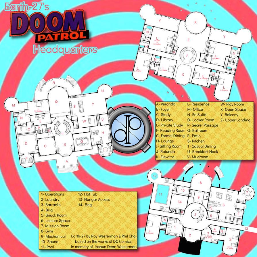[Earth-27 Living] The Doom Patrol HQ by Roysovitch