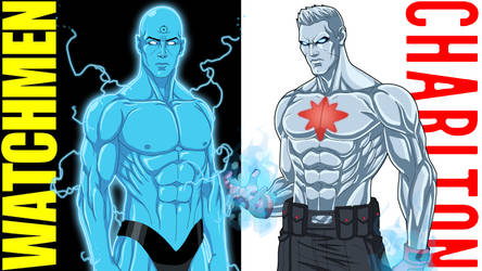 [Compare + Contrast] Dr Manhattan + Captain Atom by Roysovitch