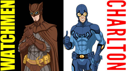 [Compare + Contrast] Nite Owl + Blue Beetle by Roysovitch