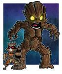 Rocket and Groot by mikegoesgeek