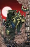 Tyranitar Kaiju by mikegoesgeek