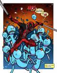 Deadpool vs Meeseeks by mikegoesgeek