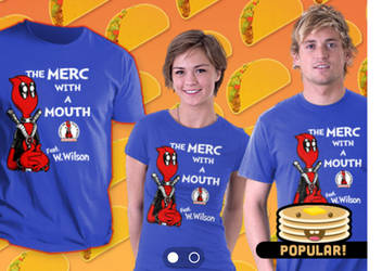 Merc With The Mouth Teefury Design by mikegoesgeek