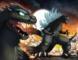 Nightmare Godzilla by mikegoesgeek