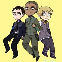 Connor - Markus - Kara (Detroit: Become Human) by AnonCat74