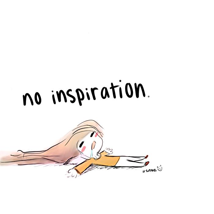 no inspiration by u-knows