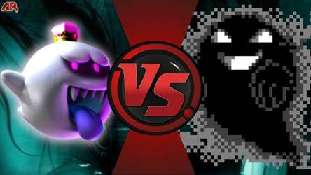 king boo vs ghost(creppypasta vs Mario) by liongamernz