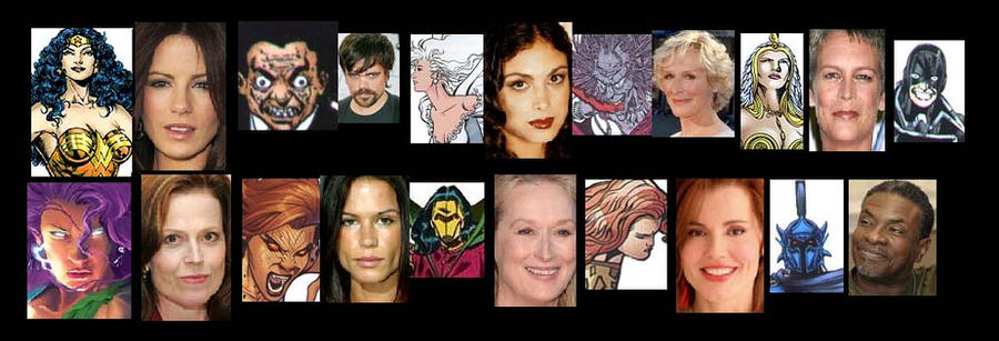 Wonder Woman Cast by Lordwormm