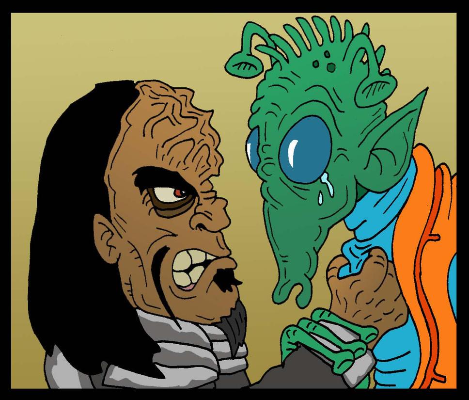 Klingon vs Rodian by Lordwormm