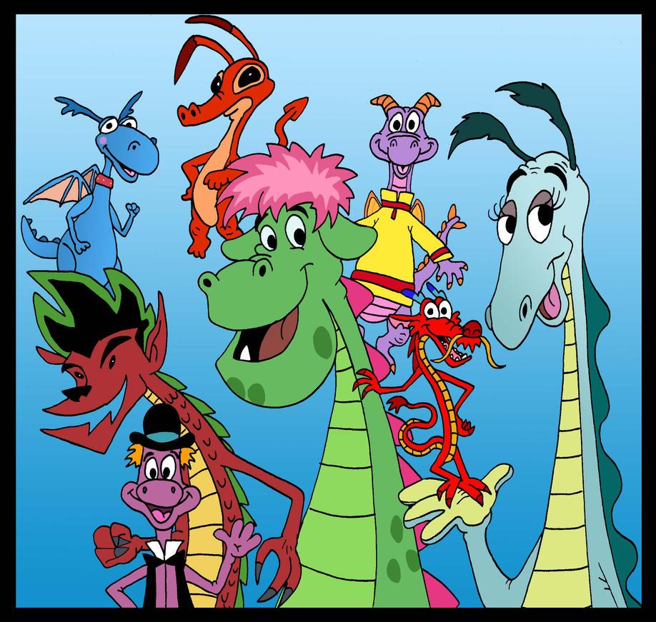 Disney Dragons by Lordwormm