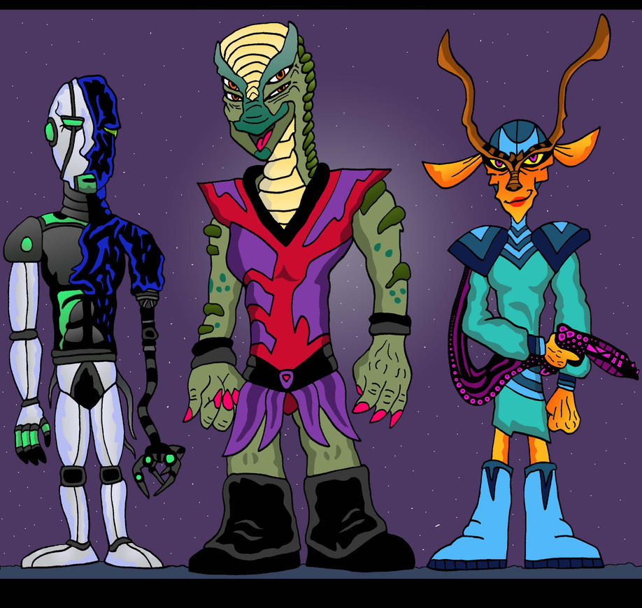 AlienAlfredo's aliens by Lordwormm