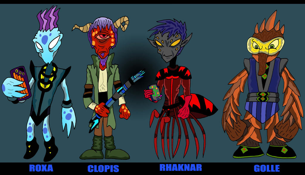 Alien Foursome Fanart by Lordwormm
