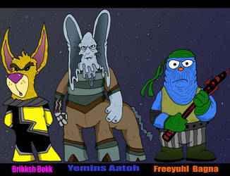 Alien Trio - Original by Lordwormm