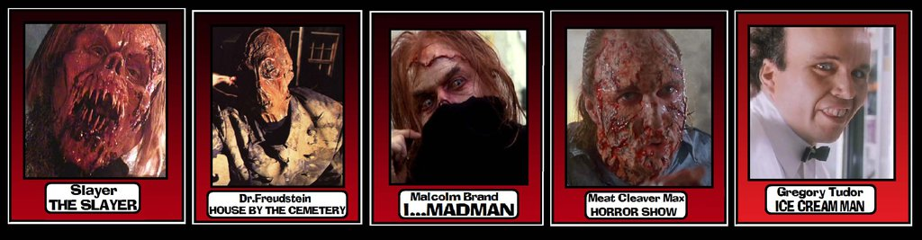Horror Trading Cards by Lordwormm