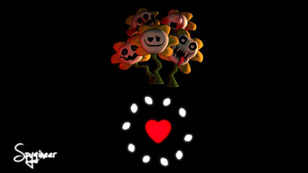 Many faces Of Flowey by TheSpygineer