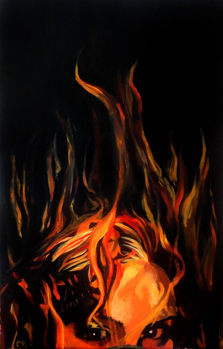 Burning eyes by Entiman