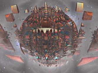 Fractal spaceship by Edo555