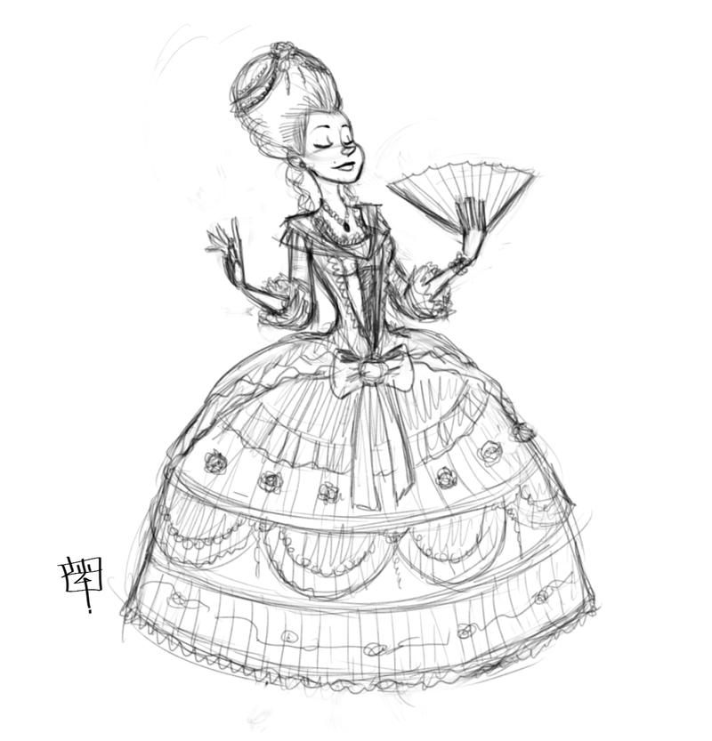 Rococo Theme Challenge sketch by LuigiL