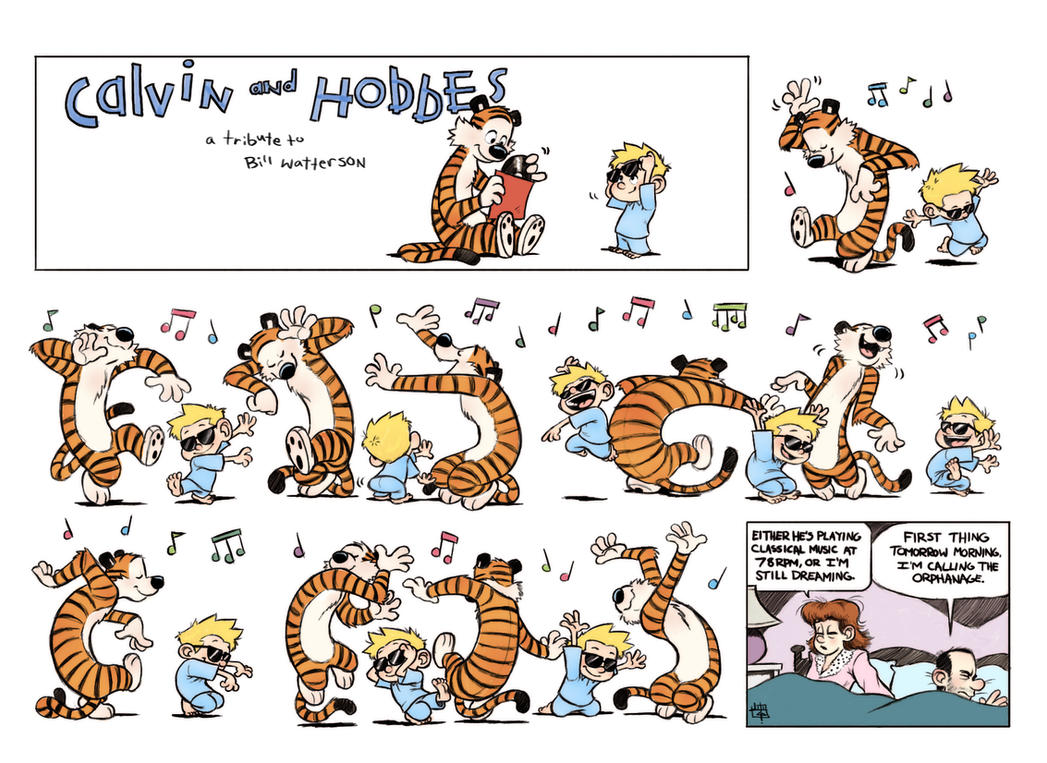 Calvin and Hobbes: 78RPM by LuigiL