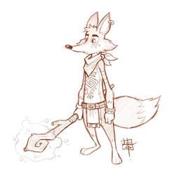 Tribal Fox Sketch by LuigiL