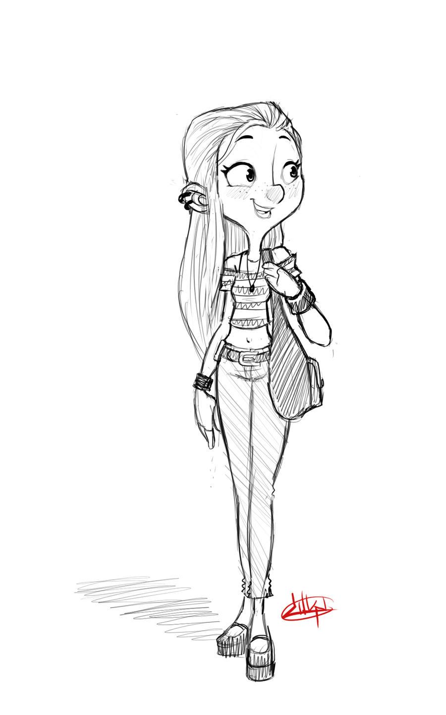 Girl A Day 15 by LuigiL