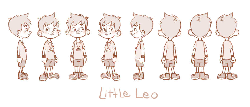 Character Design Little Boy : Little leo turn around by luigil on deviantart