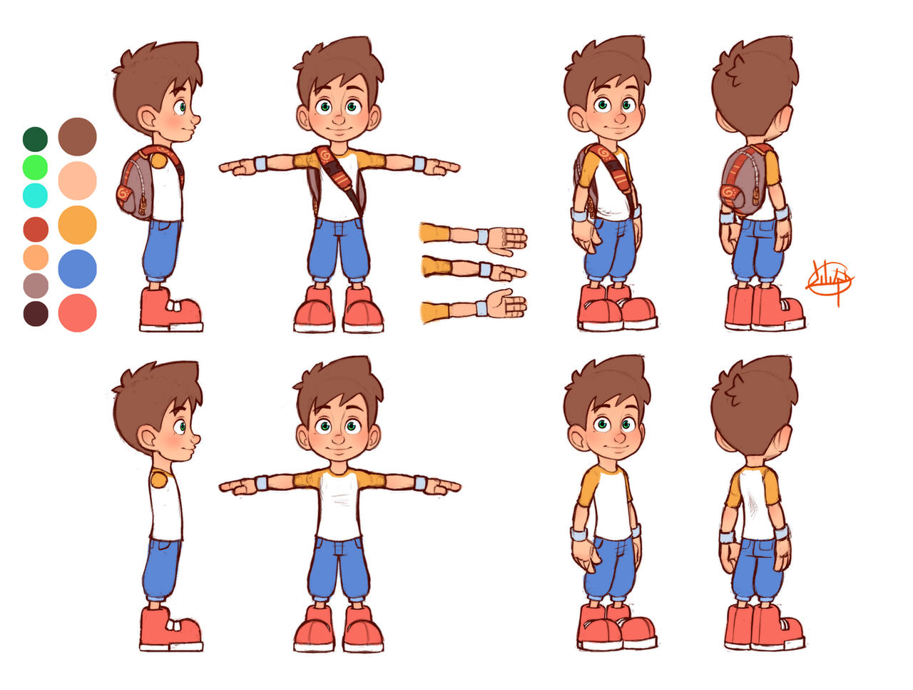 Character Design Ref Sheet : Leo reference by luigil on deviantart