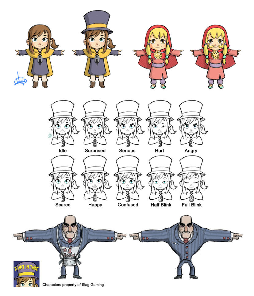 A Hat In Time Designs by LuigiL