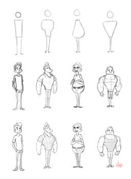 Character Shape Sketching 1 (with video link)