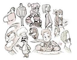 Random Sketches by LuigiL