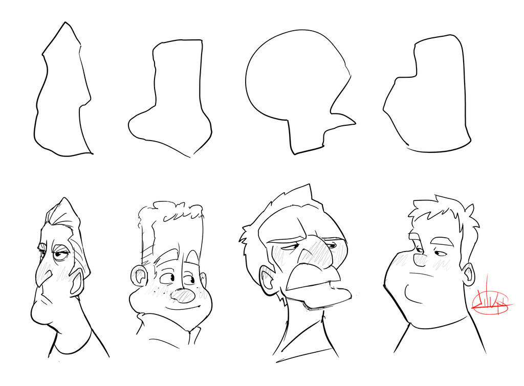 Character Design Head Shapes : Luigi shapes by luigil on deviantart
