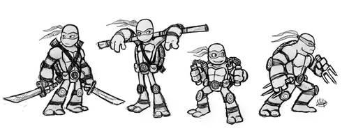 Ninja Turtles sketch by LuigiL